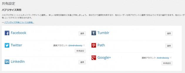 Jetpack Google+との連携は完了です