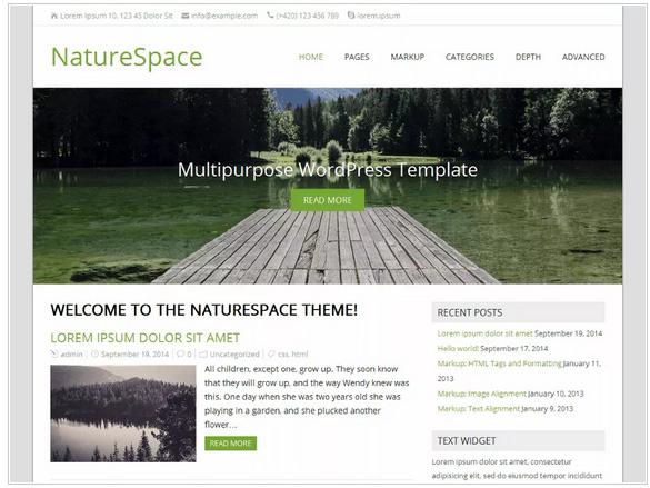 WordPressテーマNatureSpace